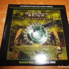 CDs de Música: ETERNAL REIGN FORBIDDEN PATH CD ALBUM PROMO CARTON 2005 CONTIENE 11 TEMAS POWER METAL HEAVY RARO. Lote 101692895