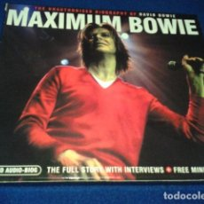CDs de Música: DAVID BOWIE ( MAXIMUM BOWIE ) THE FULL STORY WITH INTERVIEWS + POSTER. Lote 101834383
