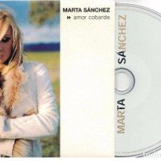 CDs de Música: MARTA SANCHEZ-CD SINGLE AMOR COBARDE-DIGIPAK. Lote 101926591