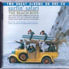 CDs de Música: THE BEACH BOYS - SURFIN' SAFARI & SURFIN' USA - 2 ALBUMS EN UN CD. Lote 101983535