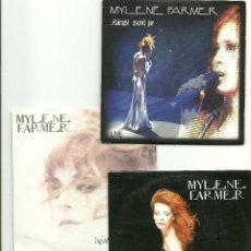 CDs de Música: MYLENE FARMER. AINSI SOIT JE.. SOUVIENS-TOI DU JOUR. INNAMORAMENTO (3 CD SINGLES). Lote 102010131