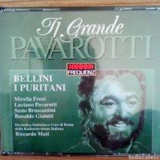 CDs de Música: TI GRANDE PAVAROTTI. 2 CDS. BELLINI I PURITANI. ORCHESTRA SINFÓNICA E CORO DI ROMA. RICARDO MUTTI.. Lote 102220734