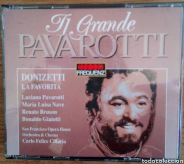 TI GRANDE PAVAROTTI. 2 CDS. DONIZETTI LA FAVORITA. ORCHESTRA & CHORUS S. FRANCISCO O. CARLO CILLARIO (Música - CD's Clásica, Ópera, Zarzuela y Marchas)