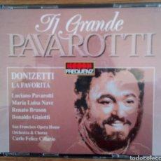 CDs de Música: TI GRANDE PAVAROTTI. 2 CDS. DONIZETTI LA FAVORITA. ORCHESTRA & CHORUS S. FRANCISCO O. CARLO CILLARIO. Lote 102222106