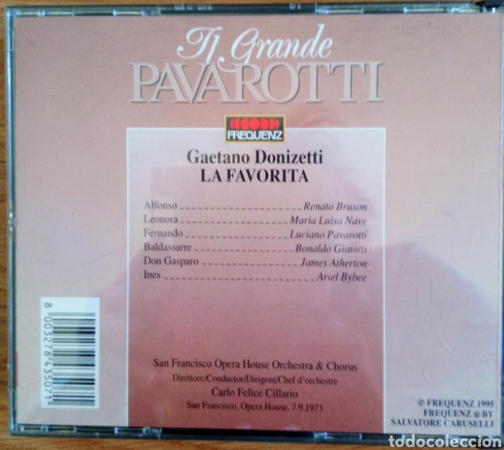 CDs de Música: TI GRANDE PAVAROTTI. 2 CDS. DONIZETTI LA FAVORITA. ORCHESTRA & CHORUS S. FRANCISCO O. CARLO CILLARIO - Foto 3 - 102222106