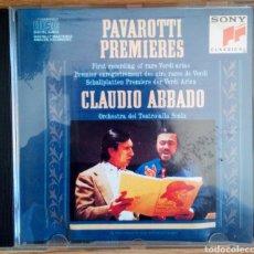 CDs de Música: L. PAVAROTTI PREMIERES. G. VERDI. CLAUDIA ABBADO. ORCHESTRA DEL TEATRO ALLA SCALA.. Lote 102252350