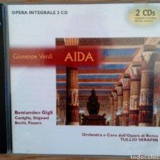 CDs de Música: AÍDA. G VERDI 2 CDS. ÓPERA INTEGRALE. BENIAMINO GIGLI. TULIO SERAFÍN. ORCHESTRA & CORO ÓPERA DI ROMA. Lote 102363267