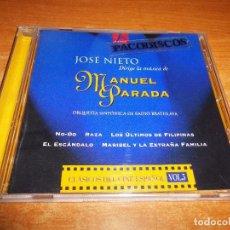 CDs de Música: CLASICOS DEL CINE ESPAÑOL VOL 3 JOSE NIETO DIRIGE LA MUSICA DE MANUEL PARADA CD AÑO 2000 44 TEMAS. Lote 102365123