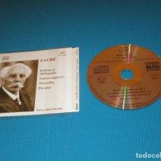CDs de Música: FAURE ( PELLEAS ET MELISANDE - VALSES-CAPRICES ) - CD - 8.553741 - NAXOS - MAZURKA - PAVANE. Lote 102371943