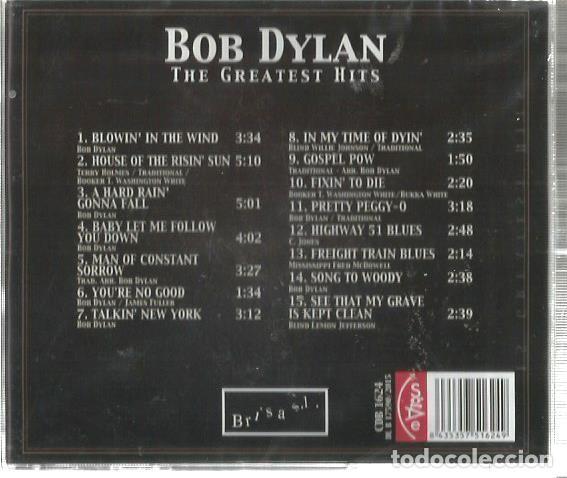 CDs de Música: CD BOB DYLAN : THE GREATEST HITS - ORIGINAL SONGS ( PRECINTADO ) - Foto 2 - 102379871