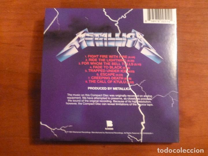 CDs de Música: METALLICA - Ride The Lightning - Edicion carton - Blackened - Foto 2 - 102380879