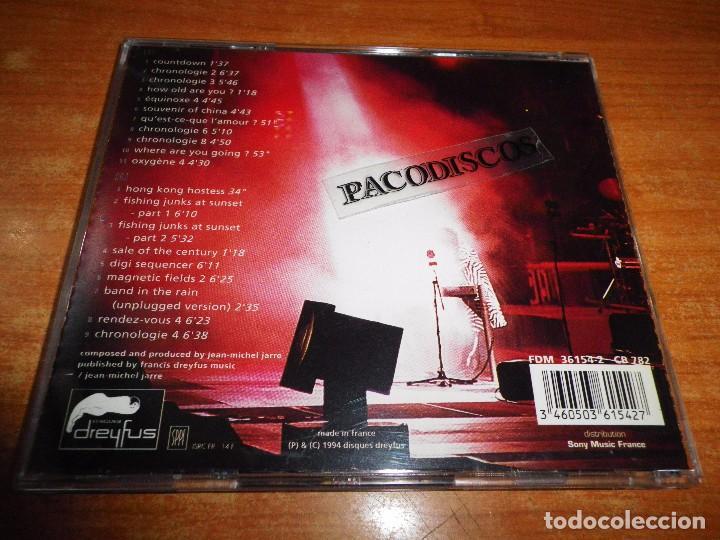 CDs de Música: JEAN MICHEL JARRE Hong kong DOBLE CD ALBUM FRANCIA DEL AÑO 1994 CONTIENE 20 TEMAS 2 CD - Foto 2 - 102386967