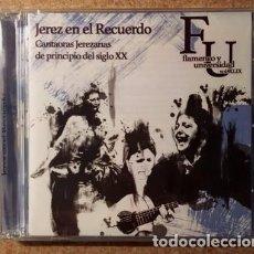 CDs de Música: CANTAORAS JEREZANAS DE PRINCIPIOS DEL SIGLO XX - FLAMENCO Y UNIVERSIDAD - DOBLE CD. Lote 140212993