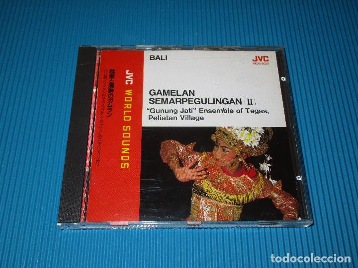 CDs de Música: BALI - GAMELAN SEMARPEGULINGAN II ( GUNUNG JATI ENSEMBLE OF TEGAS...)- CD - VICG-5025 - JVC - VICTOR - Foto 2 - 102529415