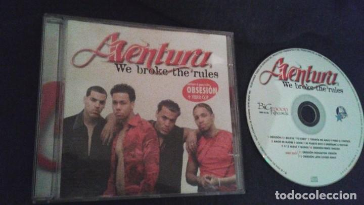 AVENTURA - WE BROKE THE RULES REMIXES CD ALBUM 2004 CONTIENE 12 TEMAS OBSESION ROMEO SANTOS (Música - CD's Latina)