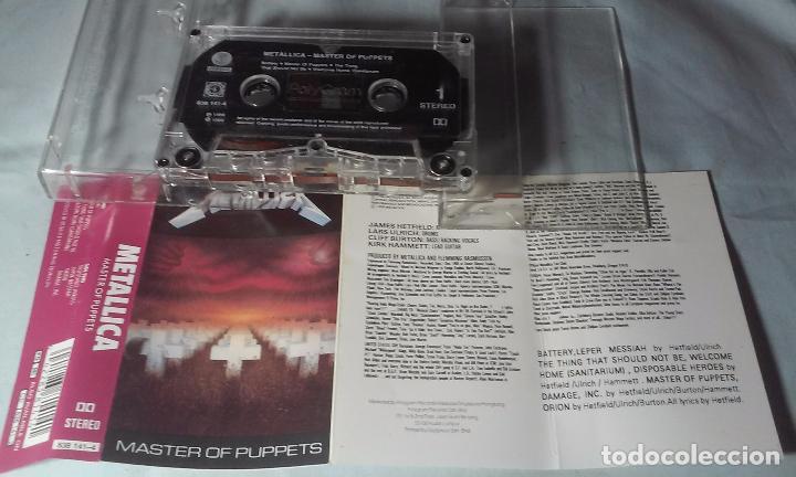 CDs de Música: METALLICA -MASTERS OF PUPPETS- CASSETTE AÑOS 1986-1989 - Foto 8 - 102743035