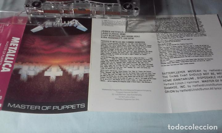CDs de Música: METALLICA -MASTERS OF PUPPETS- CASSETTE AÑOS 1986-1989 - Foto 9 - 102743035