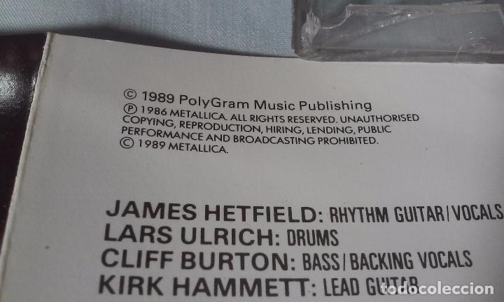 CDs de Música: METALLICA -MASTERS OF PUPPETS- CASSETTE AÑOS 1986-1989 - Foto 12 - 102743035