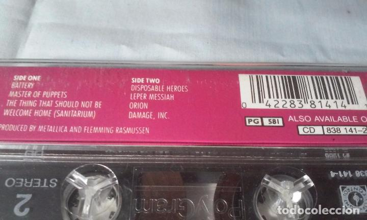 CDs de Música: METALLICA -MASTERS OF PUPPETS- CASSETTE AÑOS 1986-1989 - Foto 18 - 102743035