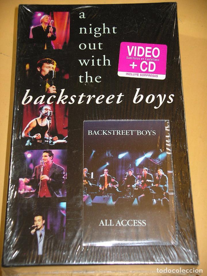 Backstreet Boys, A night out with the, Box con CD + VHS + sorpresas precintado 1998 ercom OFERTA! d2 segunda mano