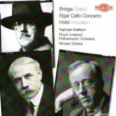 CDs de Música: BRIDGE, ORATION / HOLST, INVOCATION / ELGAR, CELLO CONCERTO - CD 13 TRACKS - NIMBUS RECORDS 2006. Lote 102827707