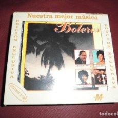 CDs de Música: MAGNIFICA CAJA CON 3 CD`S NUESTRA MEJOR MUSICA BOLEROS,EDICION EXCLUSIVA. Lote 102937027