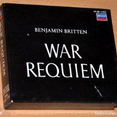 CDs de Música: CAJA 2 CDS + LIBRETO: WAR REQUIEM - BENJAMIN BRITTEN - DECCA RECORD LONDON 1985. Lote 102939147
