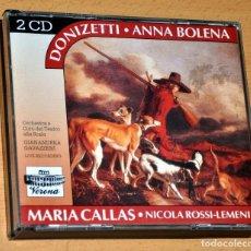 CDs de Música: DOBLE CD + LIBRETO: ANNA BOLENA - DE DONIZETTI - CON MARIA CALLAS - VERONA LIVE RECORDING. Lote 150543566