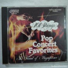 CDs de Música: 101 STRINGS - POP CONCERT FAVORITES - CD 1987. Lote 103223847