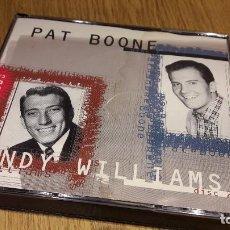 CDs de Música: PAT BOONE / ANDY WILLIAMS. DOBLE CD MASTER-1996 / 36 TEMAS / CDS DE LUJO.. Lote 103696595