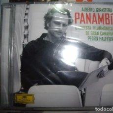 CDs de Música: CD ALBERTO GINESTERA - PANAMBÍ - ORQUESTA FILARMÓNICA DE GRAN CANARIA - PEDRO HAFFTER -SELLADO, 2012. Lote 103809415