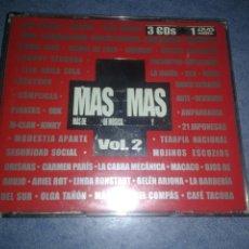 CDs de Música: MAS Y MAS VOLUMEN 2 RECOPILATIRIO 3 CDS + DVD DIFICIL POP ESPAÑOL. Lote 103842971
