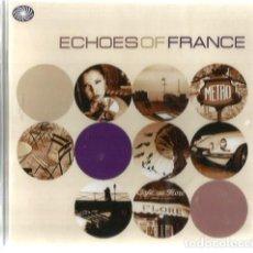 CDs de Música: DOBLE CD ECHOES OF FRANCE ( JACQUES BREL, MILES DAVIS, LEO FERRER, SERGE GAINSBOURG, CHARLES TRENET,. Lote 103853863
