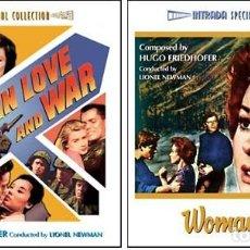 CDs de Música: WOMEN OBSESSED + IN LOVE AND WAR / MUSIC BY HUGO FRIEDHOFER / ORIGINAL SOUNDTRACK CD / BSO. Lote 103875063