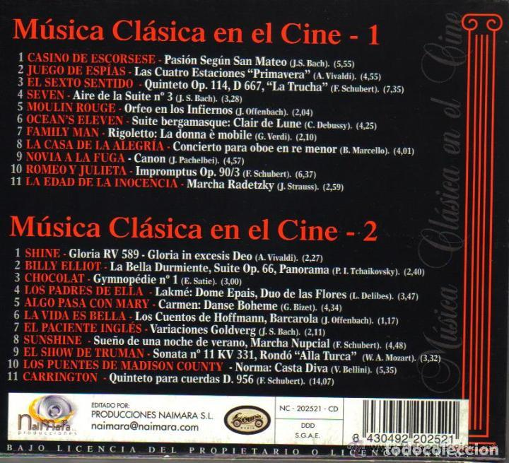 CDs de Música: MUSICA CLASICA EN EL CINE - BLACK BOX COLLECTION - CD DOBLE - 22 TEMAS - Foto 2 - 103877191