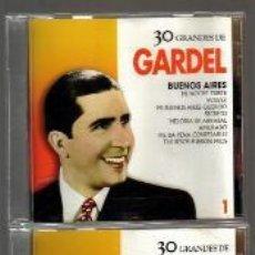 CDs de Música: CD DOBLE - CARLOS GARDEL - 30 CANCIONES - EXCELENTE ESTADO DE CONSERVACION . Lote 103877287
