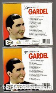 CDs de Música: CD DOBLE - CARLOS GARDEL - 30 CANCIONES - EXCELENTE ESTADO DE CONSERVACION - Foto 2 - 103877287