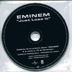 CDs de Música: EMINEM / JUST LOSE IT (CD SINGLE PICTURE PROMO CON HOJA DISCOGRAFICA). Lote 103901843