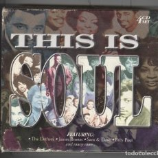 CDs de Música: THIS IS SOUL. BOX DE 4 CD'S. 1999. LO MEJOR DEL SOUL ORIGINALES.. Lote 103914195