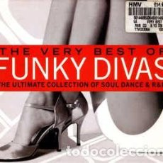 CDs de Música: VARIOUS - THE VERY BEST OF FUNKY DIVAS (2XCD, COMP, SLI) LABEL:TELSTAR CAT#: TTVCD3364 . Lote 103958023
