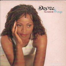 CDs de Música: DES´REE / YOU GOTTA BE - WARM HANDS, COLD HEART - CD SINGLE PROMO SONY MUSIC DE 1995, RF-108. Lote 104025191