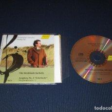 CDs de Música: F. MENDELSSOHN BARTHOLDY (SYMPHONY NO. 3 - STRING SYMPHONY NO. 11) - CD 98.552 - HANSSLER CLASSIC. Lote 104219239