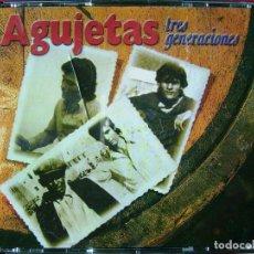 CDs de Música: AGUJETAS.TRES GENERACIONES...DOBLE CD...MUY DIFICIL. Lote 104220779