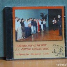 CDs de Música: VALLPARADÍS / BERGANTÍ / DUET - HOMENATGE AL MESTRE J.L. ORTEGA MONASTERIO - 2002. Lote 104241239