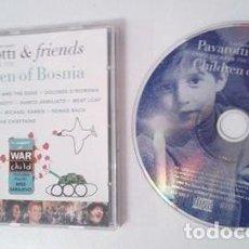 CD de Música: PAVAROTTI & FRIENDS - CHILDREN OF BOSNIA -DECCA 1996 CD ALBUM 17 TEMAS:U2,ZUCCHERO,JOVANOTTI,BOLTON. Lote 149301756