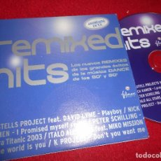 CDs de Música: REMIXED HITS CASTELL PROJECTS+SCHILLING+KAMEN+ITAL ALL STARS+DAVID LYME CD EP 2003 PROMO. Lote 104592687