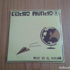 CDs de Música: CD SINGLE - RADIO MUNDO - ESTE ES EL FUTURO - DESCATALOGADO - 3 TEMAS + VIDEOCLIP - 2003. Lote 104710127