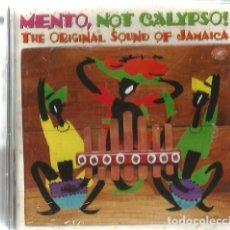 CDs de Música: DOBLE CD MENTO, NOT CALYPSO ! : THE JAMAICA CALYPSONIANS, THE TOWER ISLANDERS, BABA MOTTA, COBRA M . Lote 104807179