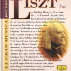 CDs de Música: LISTZ - LA GRAN MÚSICA PASO A PASO - CD DEUTSCHE GRAMMOPHON/CLUB INTERNACIONAL DEL LIBRO 1995. Lote 181968206