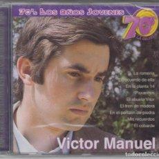 CDs de Música: VÍCTOR MANUEL CD 70'S LOS AÑOS JÓVENES 2002 DIVUCSA (PRECINTADO). Lote 130635023
